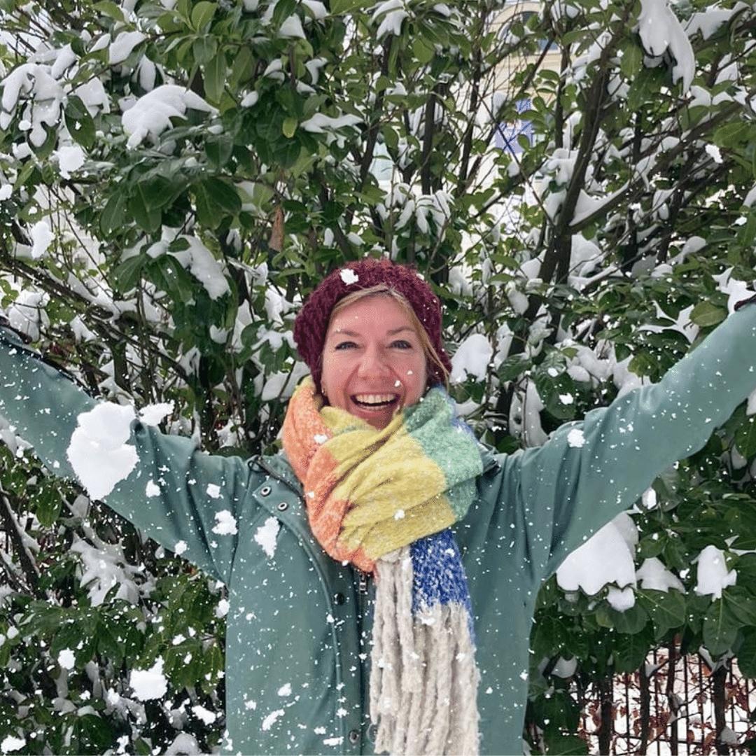 Debora in de sneeuw