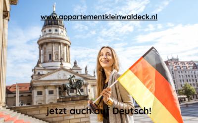 Onze website nu ook in het Duits!