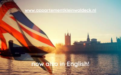 Onze website nu ook in het Engels!